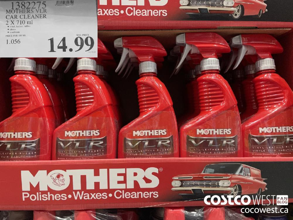 1382275 MOTHERS VLR CAR CLEANER 2 X 710 ml $14.99