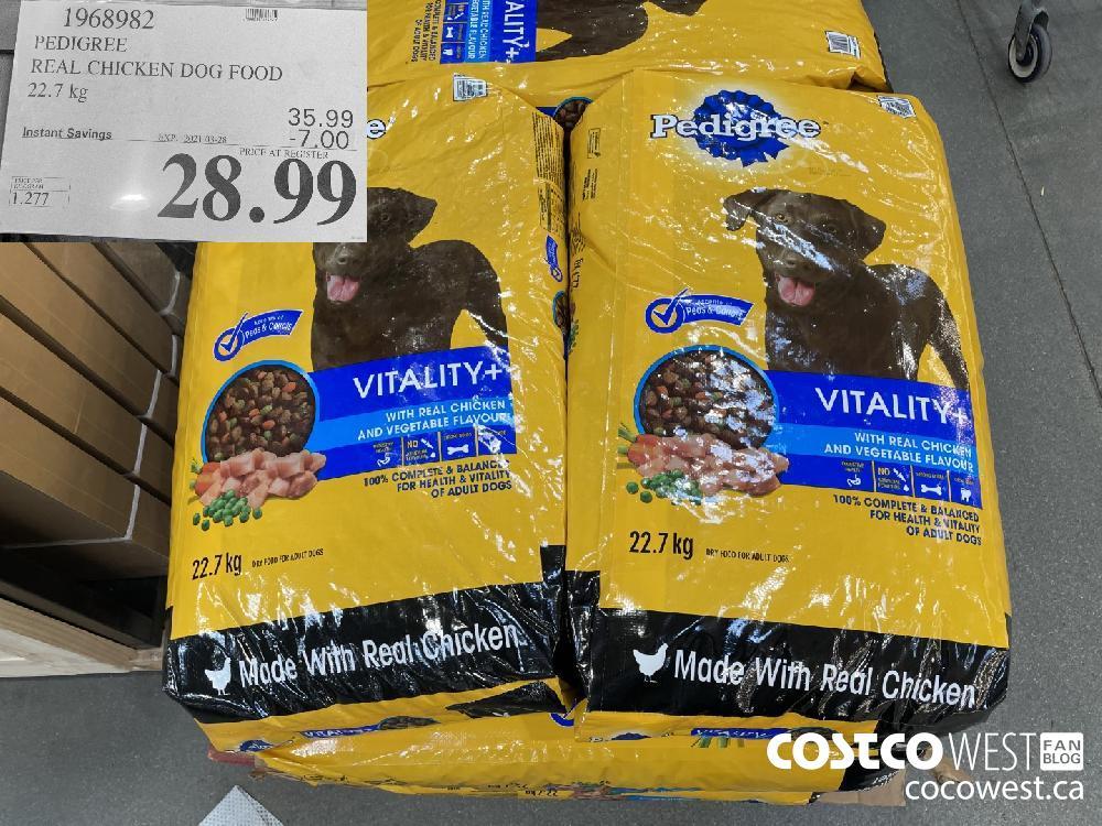 1968982 PEDIGREE REAL CHICKEN DOG FOOD 22.7 kg EXPIRY DATE: 2021-03-28 $28.99