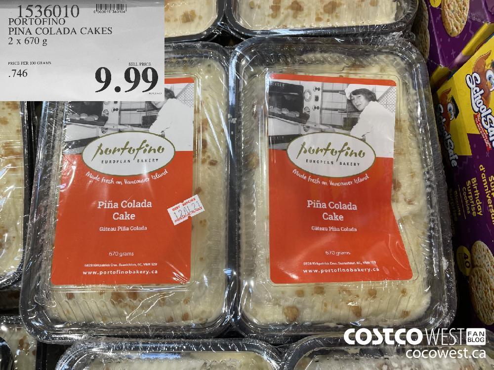 1536010 PORTOFINO PINA COLADA CAKES 2 x 670 g $9.99