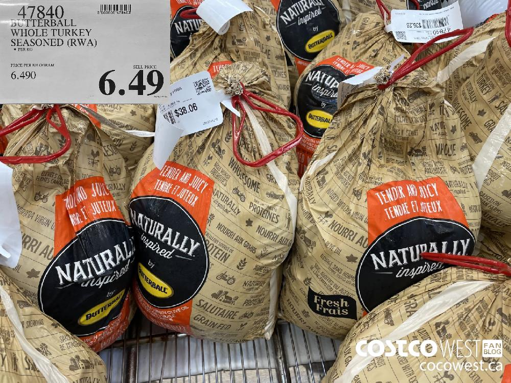 47840 DUTTERBALL WHOLE TURKEY SEASONED (RWA) $6.49