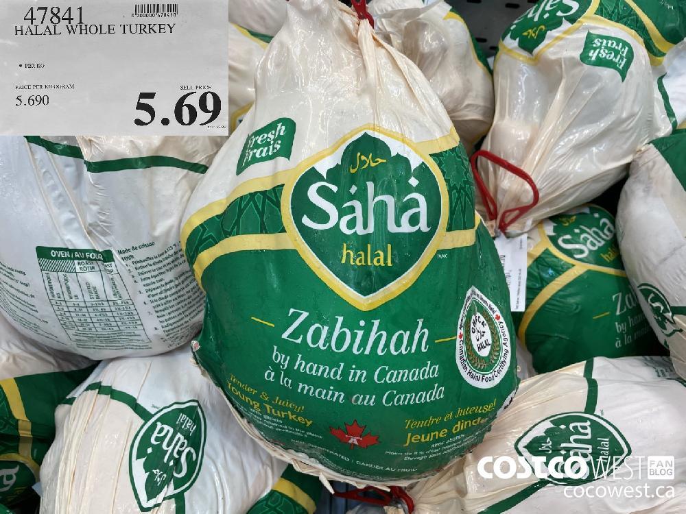 47841 HALAL WHOLE TURKEY $5.69