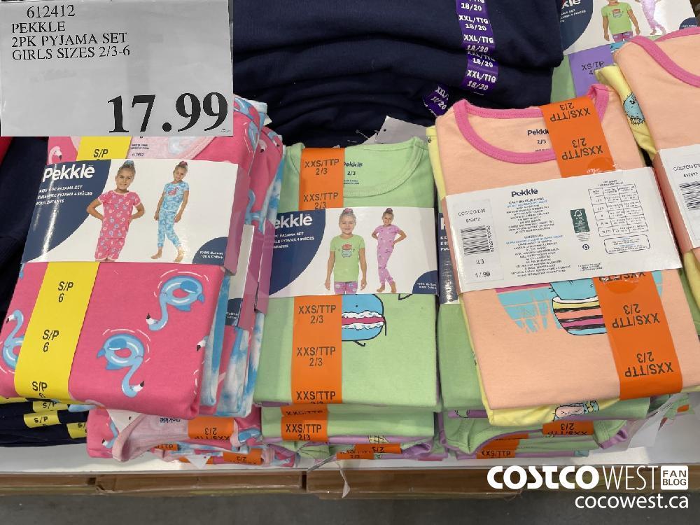 612412 PEKKLE 2PK PYJAMA SET GIRLS SIZES 2/3-6 $17.99