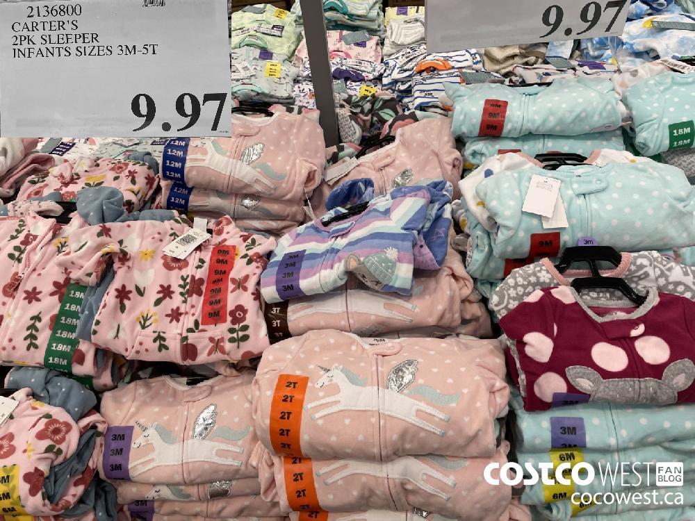 2136800 CARTER'S 2PK SLEEPER INFANTS SIZES 3M-5T $9.97