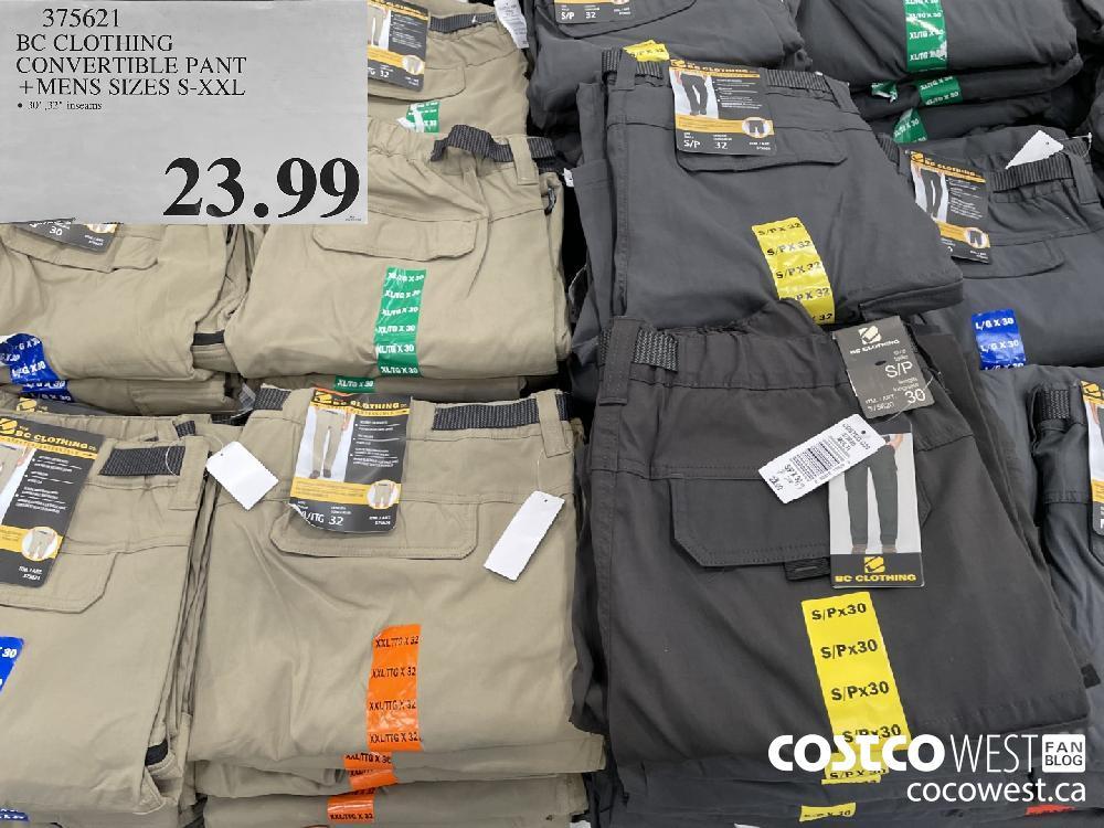 375621 BC CLOTHING CONVERTIBLE PANT MENS SIZES S-XXL $23.99