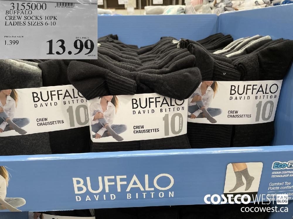 3155000 BUFFALO CREW SOCKS 10PK LADIES SIZES 6-10 $13.99