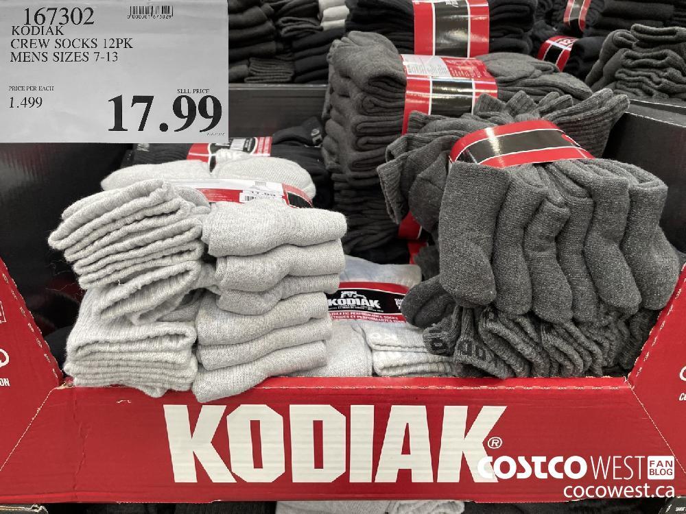 167302 KODIAK CREW SOCKS 12PK MENS SIZES 7-13 $17.99