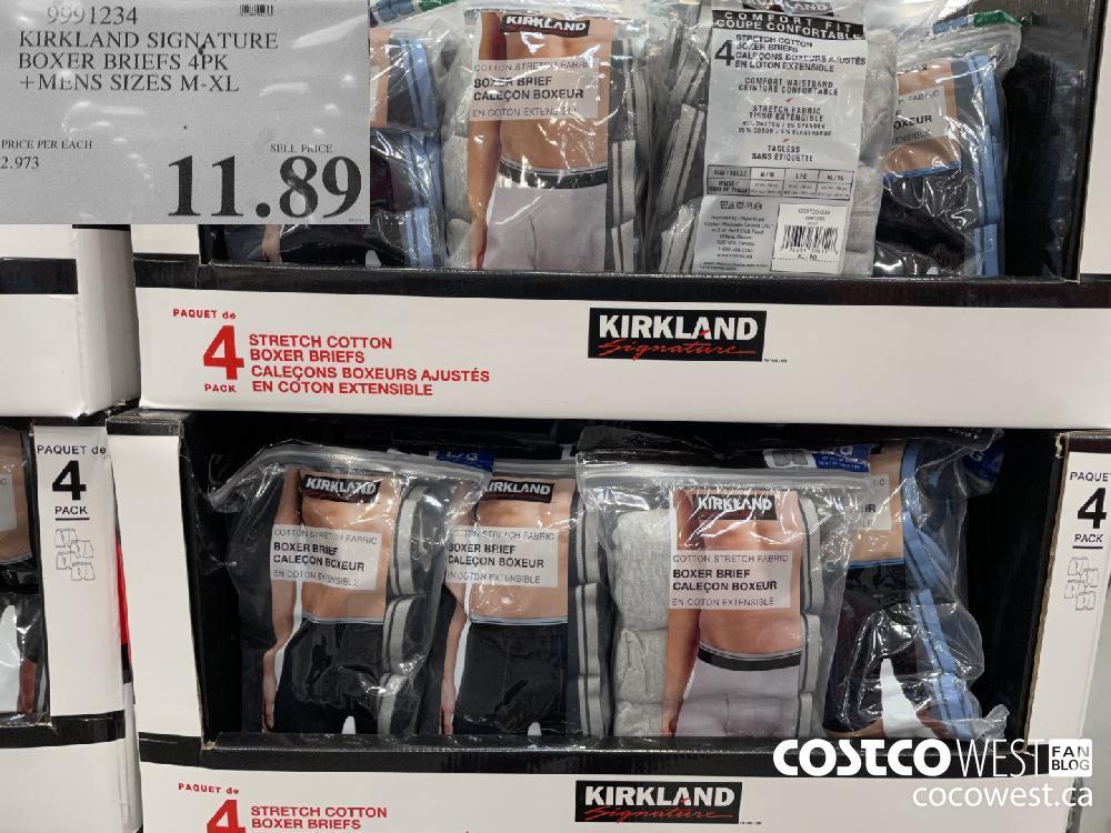 9991234 KIRKLAND SIGNATURE BOXER BRIEFS 4PK MENS SIZES M-XL $11.89
