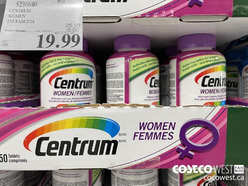 5930640 CENTRUM WOMEN 250 TABLETS EXPIRY DATE: 2021-04-11 $19.99