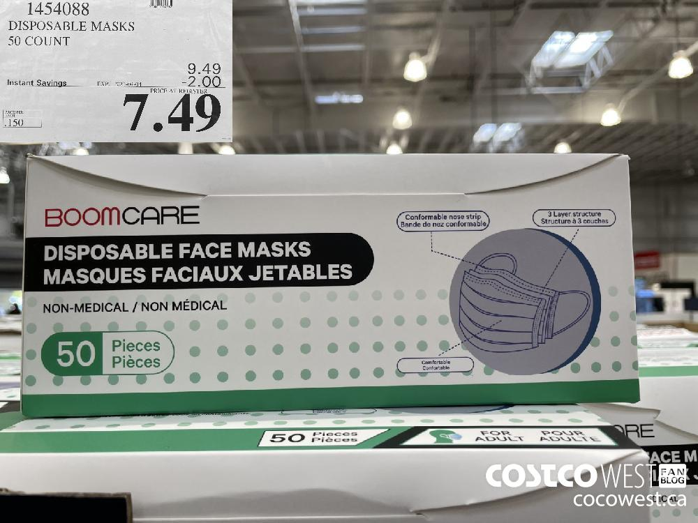 1454088 DISPOSABLE MASKS 50 COUNT EXPIRY DATE: 2021-04-04 $7.49