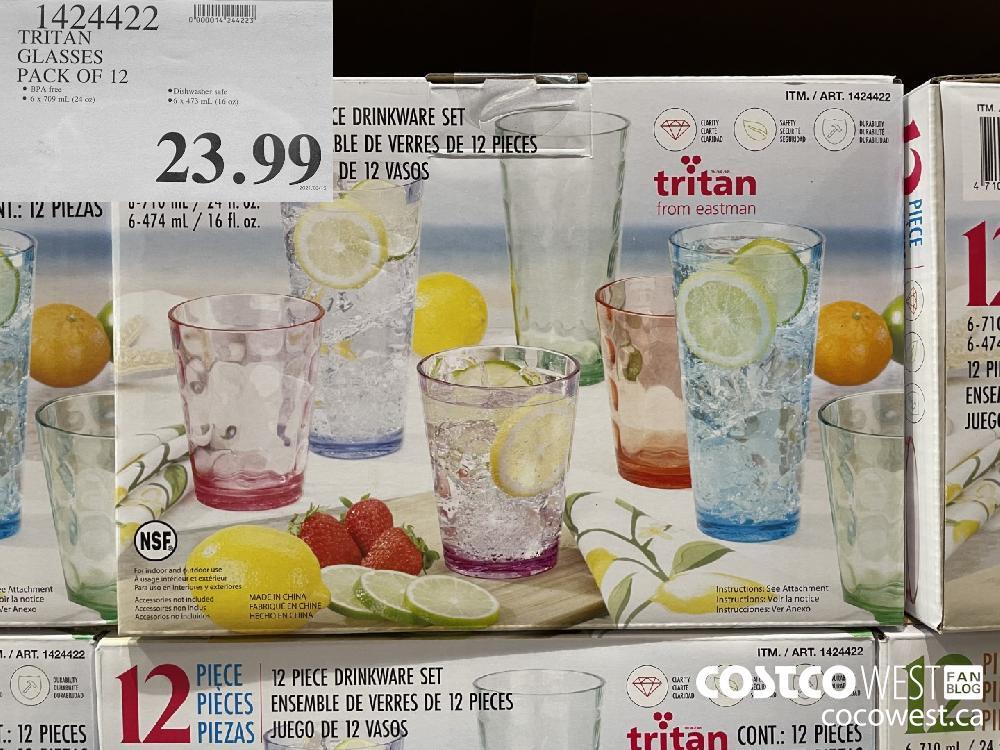 1424499 TRITAN GLASSES PACK OF 12 $23.99