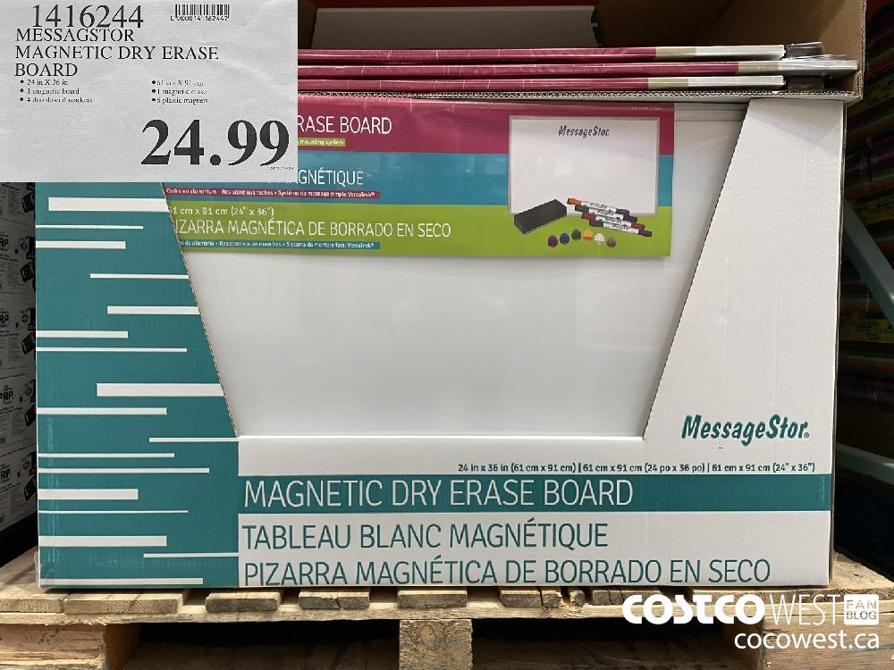 1416244 MESSAGSTOR MAGNETIC DRY ERASE BOARD $24.99