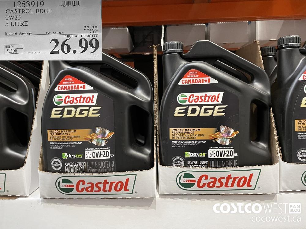 1253919 CASTROL EDGE OW20 5 LITRE EXPIRY DATE: 2021-04-21 $26.99