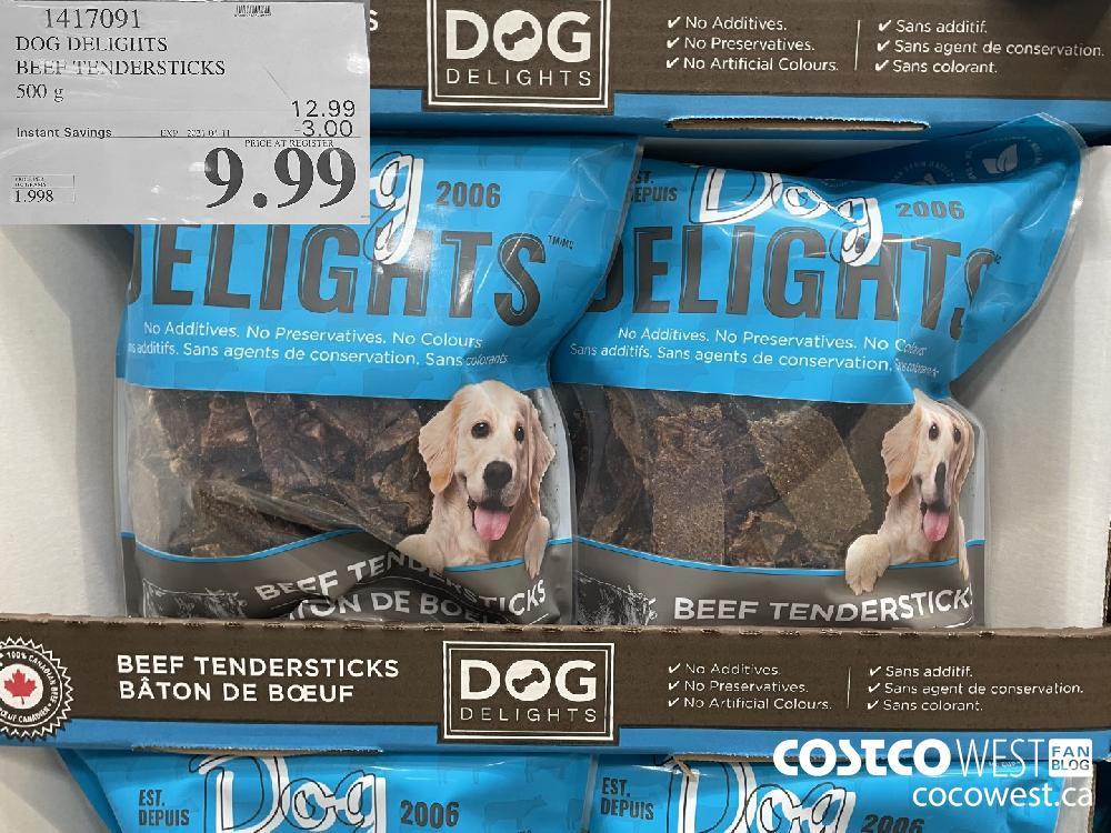1417091 DOG DELIGHTS BEEP TENDERSTICKS 500 g EXPIRY DATE: 2021-04-11 $9.99