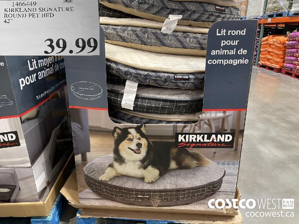 "1466449 KIRKLAND SIGNATURE ROUND PET BED 42"" $39.99"