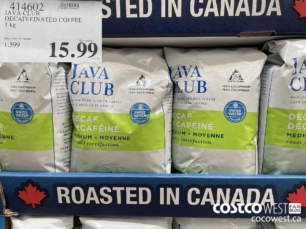 414602 JAVA CLUB DECAFFEINATED COFFEE 1 kg $15.99