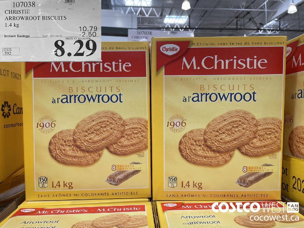 107038 CHRISTIE ARROWROOT BISCUITS 1.4 kg EXPIRY DATE: 2021-04-11 $8.29