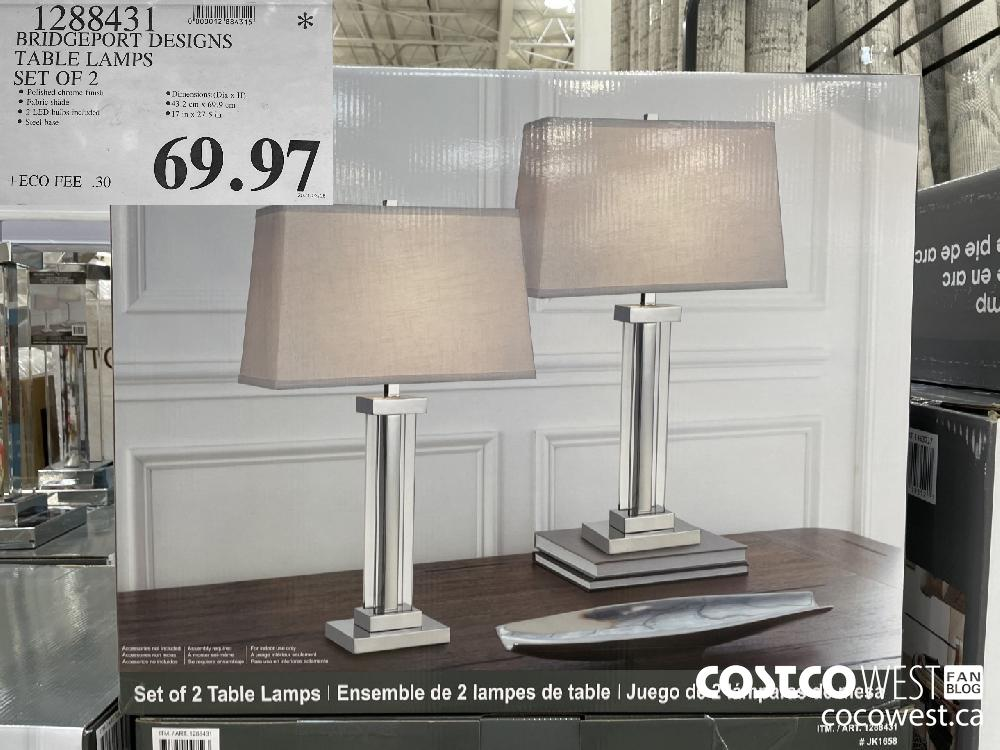 1288431 BRIDGEPORT DESIGNS TABLE LAMPS SET OF 2 $69.97