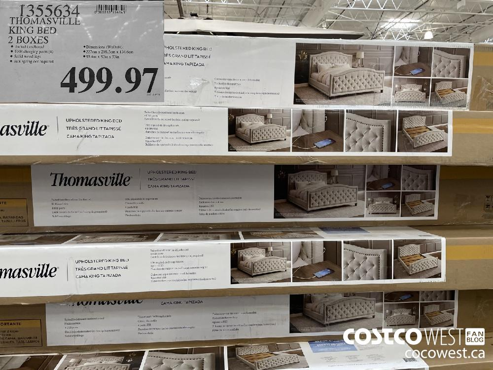 1355634 THOMASVILLE KING BED 2 BOXES $499.97