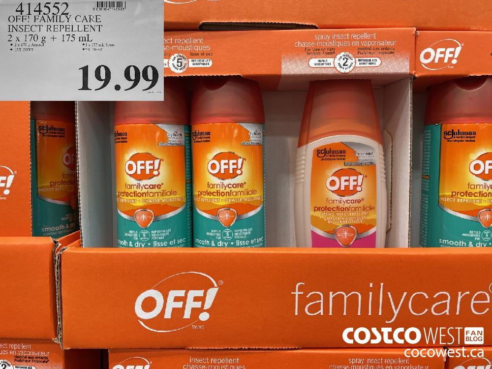 414552 OFF! FAMILY CARE INSECT REPELLENT 2x 170 g 175 mL $19.99