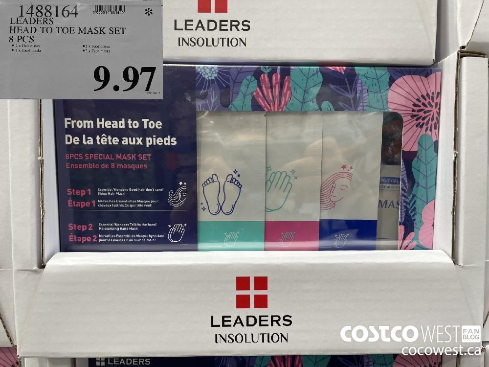 1488164 LEADERS HEAD TO TOE MASK SET 8 PCS $9.97