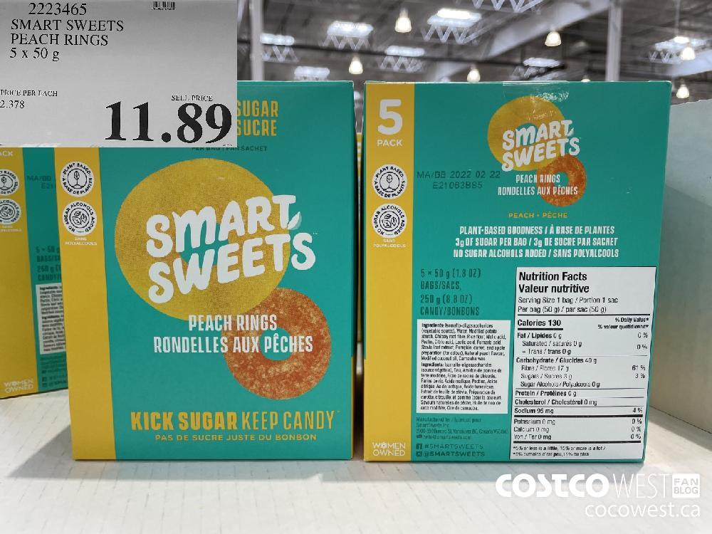 2223465 SMART SWEETS PEACH RINGS 5 x 50 g $11.89