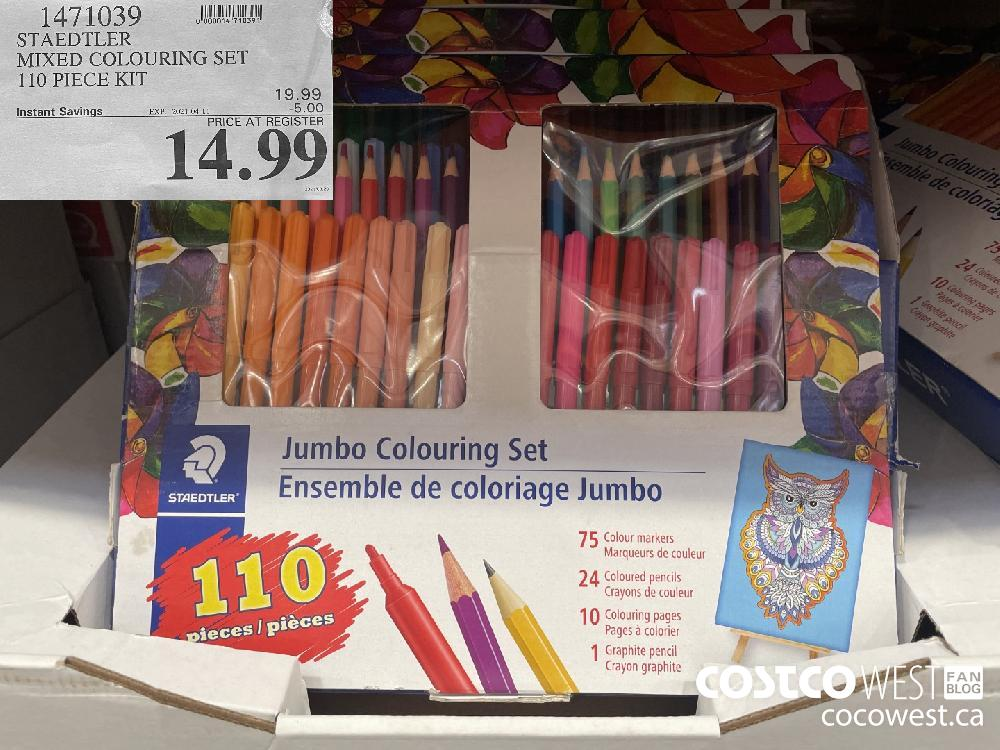 1471039 STAEDTLER MIXED COLOURING SET 110 PIECE KIT EXPIRY DATE: 2021-04-11 $14.99
