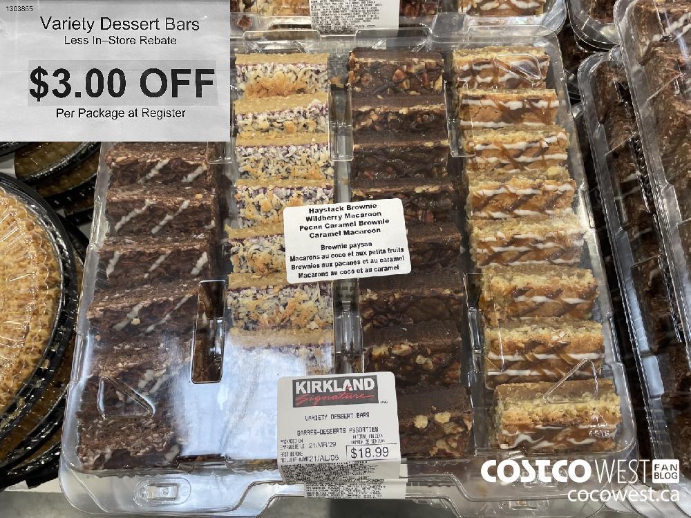 1363855 Variety Dessert Bars Less In—Store Rebate $3.00 OFF Per Package at Register