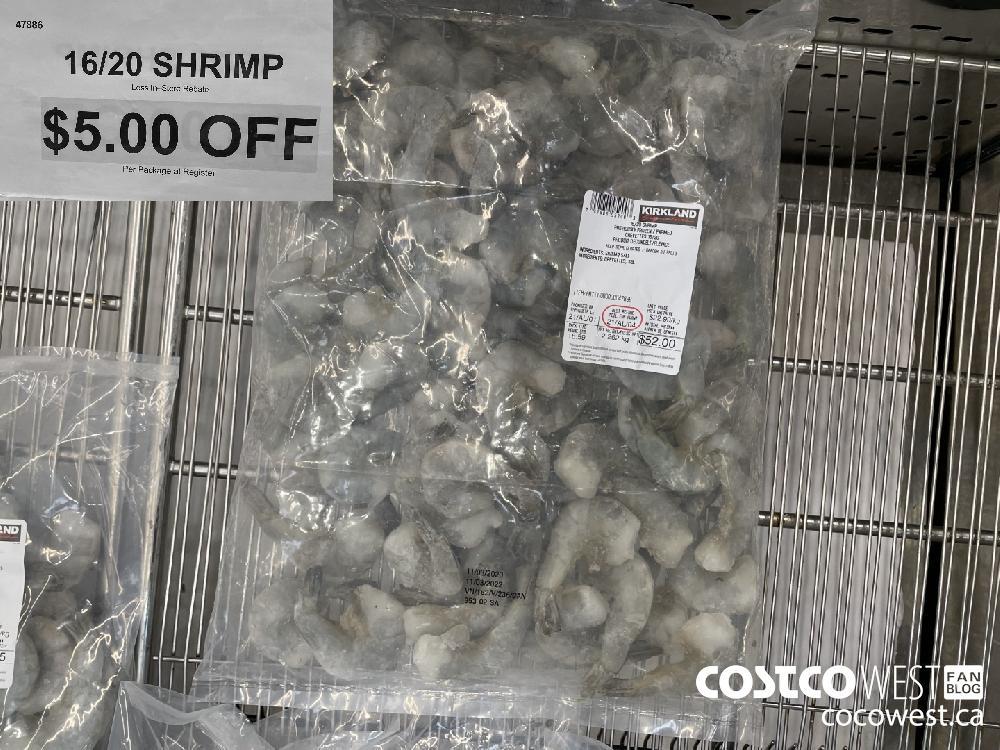 47886 16/20 SHRIMP Less In-Store Rebate $5.00 OFF Per Package at Register