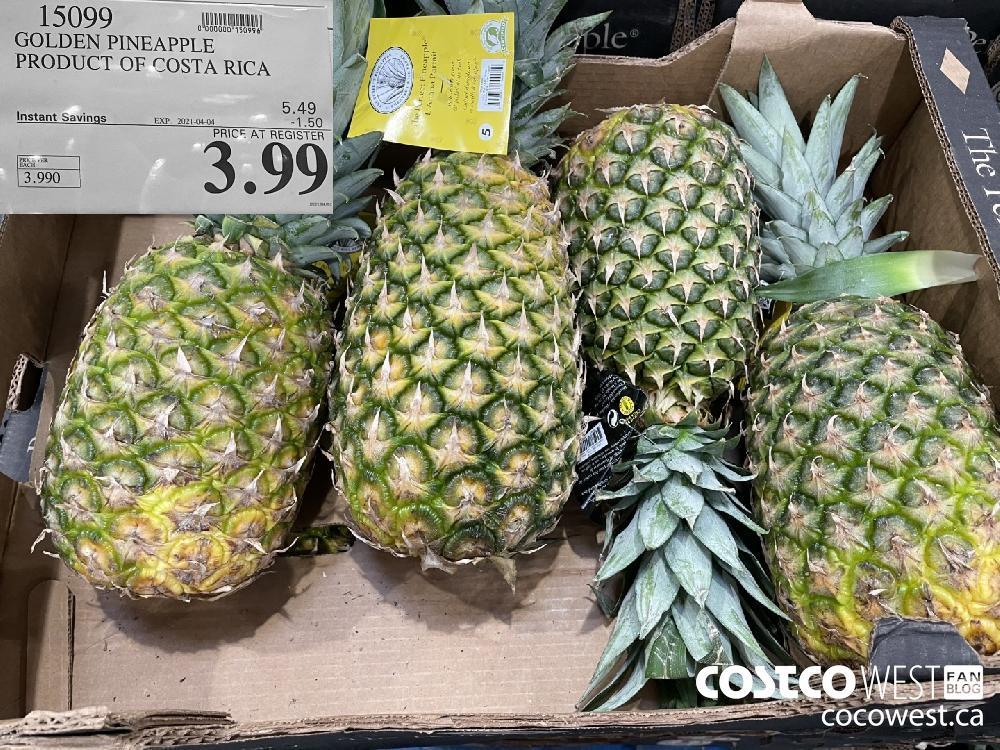 15099 GOLDEN PINEAPPLE PRODUCT OF COSTA RICA EXPIRY DATE: 2021-04-04 $3.99
