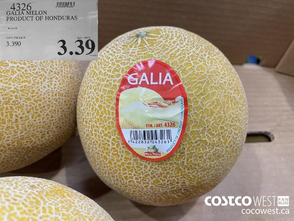 4326 GALIA MELON PRODUCT OF HONDURAS $3.39