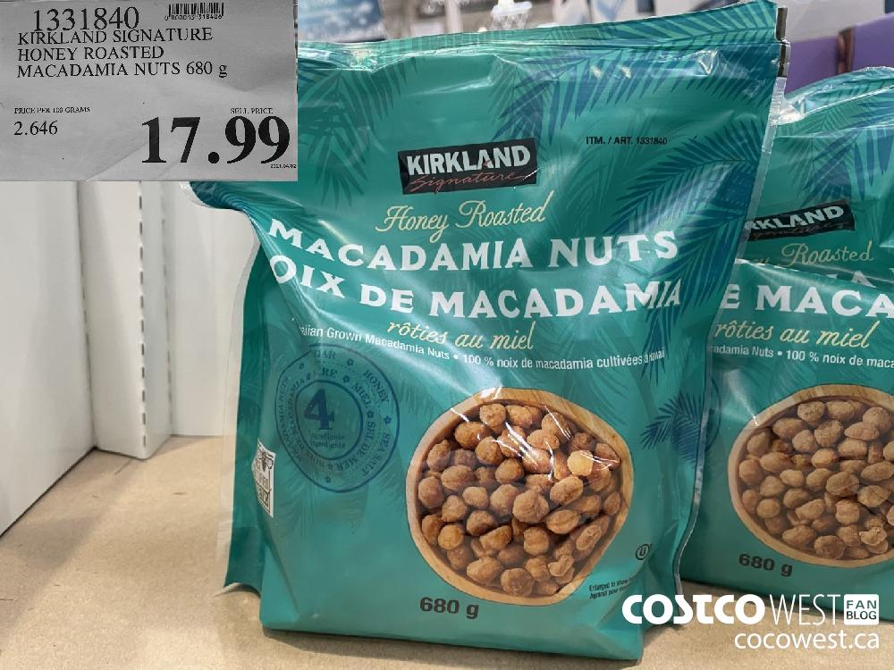 1331340KIRKLAND SIGNATUREHONEY ROASTEDMACADAMIA NUTS 680 g$17.99