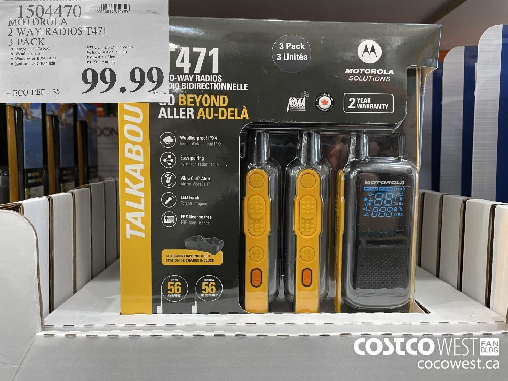 1504470 MOTOROLA 2WAY RADIOS T471 3-PACK $99.99