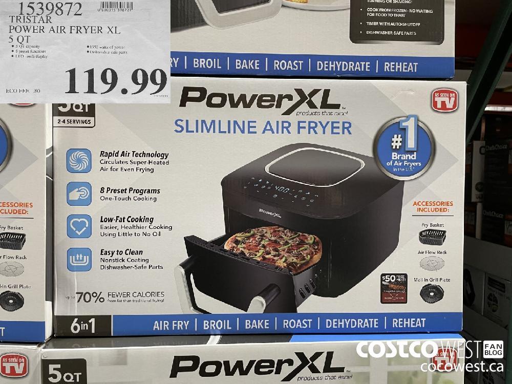 1539872 TRISTAR POWER AIR FRYER XL 5 QT $119.99