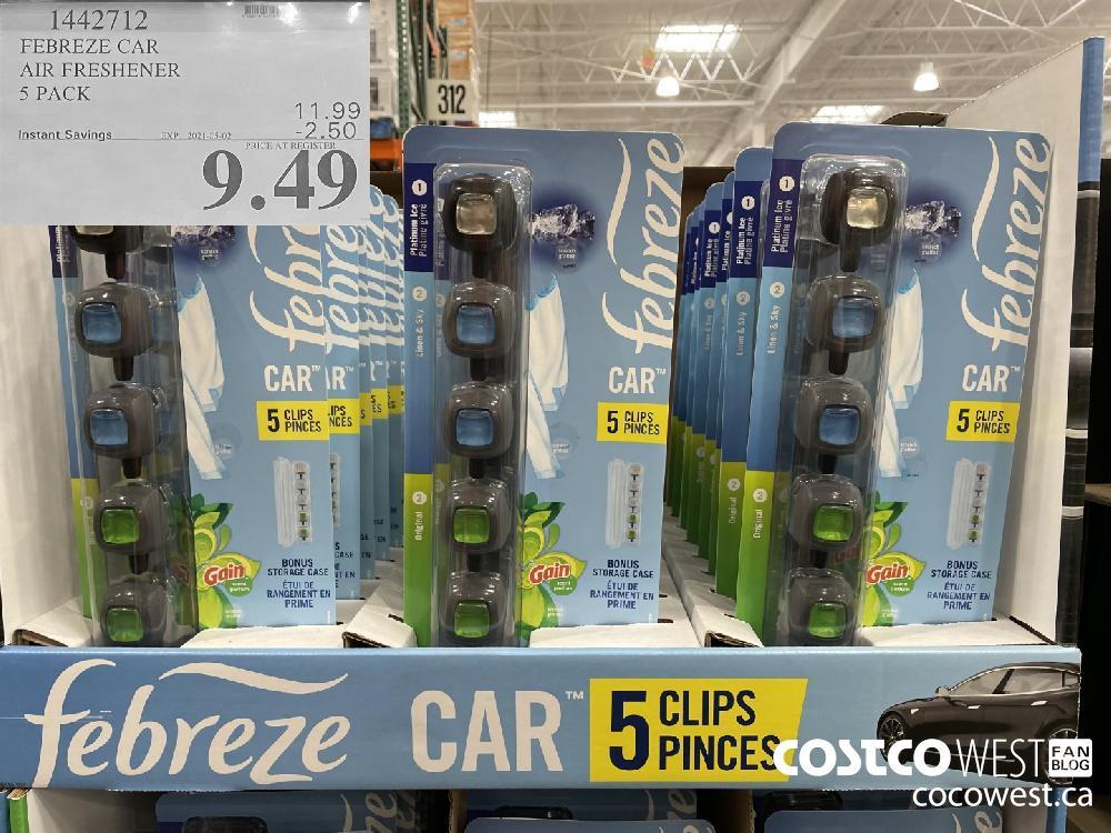 1442712 FEBREZE CAR AIR FRESHENER 5 PACK EXPIRY DATE: 2021-05-02 $9.49