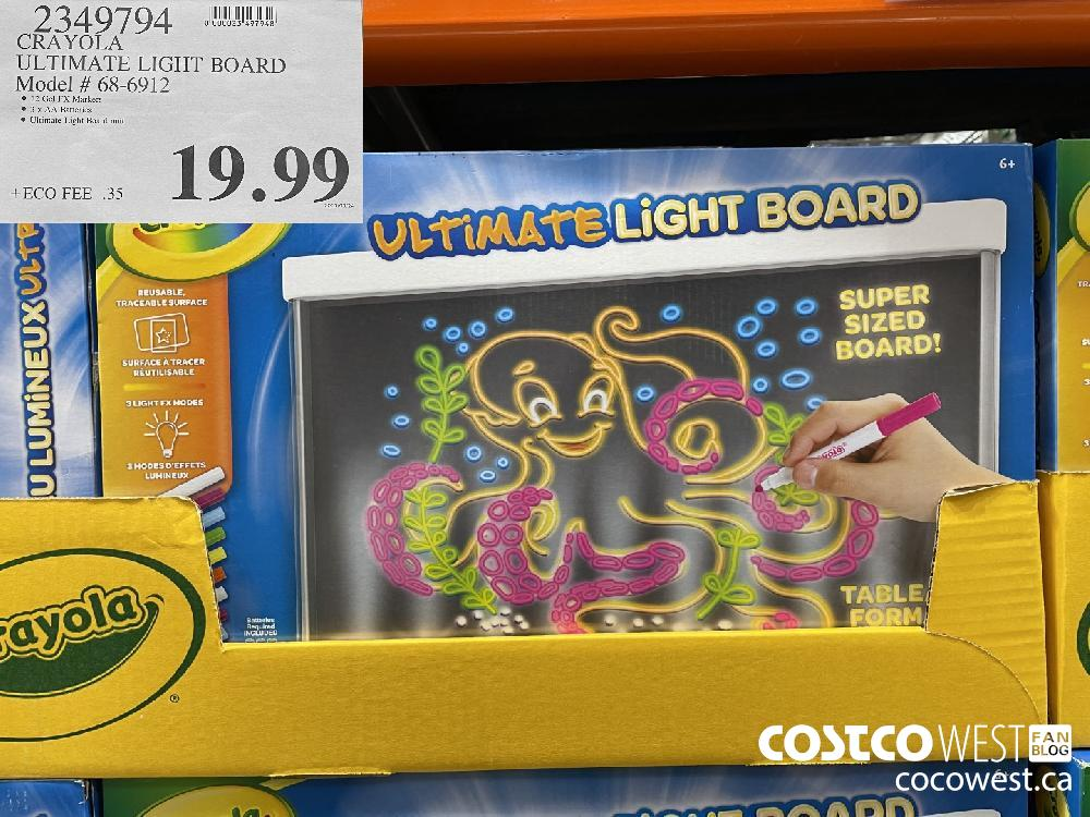 2349794 CRAYOLA ULTIMATE LIGHT BOARD Model # 68-6912 $19.99