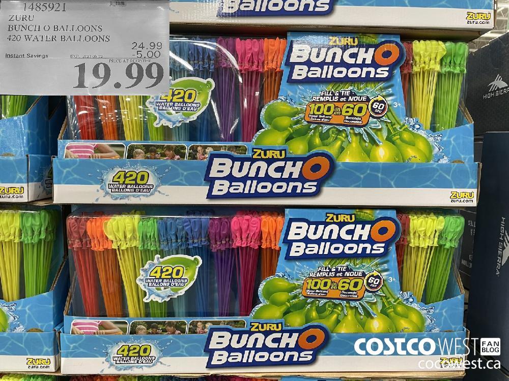 1485921 ZURU BUNCH O BALLOONS 420 WATER BALLOONS EXPIRY DATE: 2021-05-02 $19.99