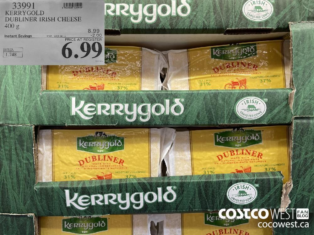 33991 KERRYGOLD DUBLINER IRISH CHEESE 400 g EXPIRY DATE: 2021-04-11 $6.99