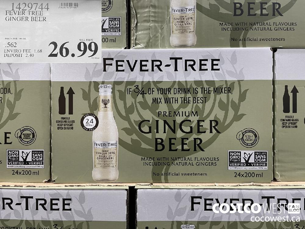 1429744 FEVER TREE GINGER BEER $26.99