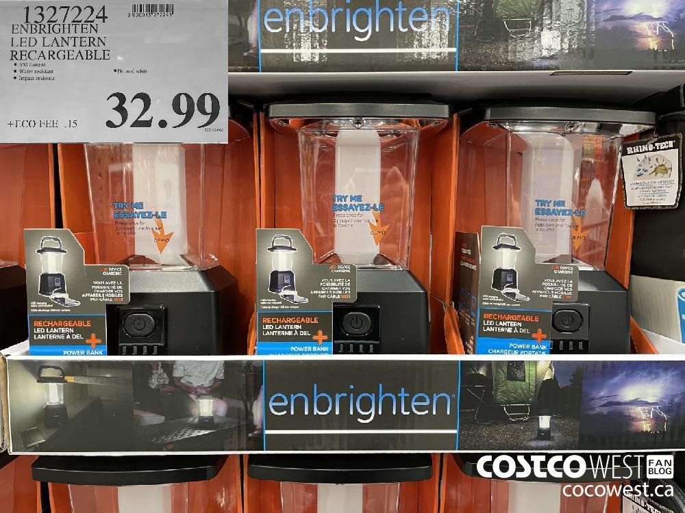 1327224 ENBRIGHTEN LED LANTERN RECHARGEABLE $32.99