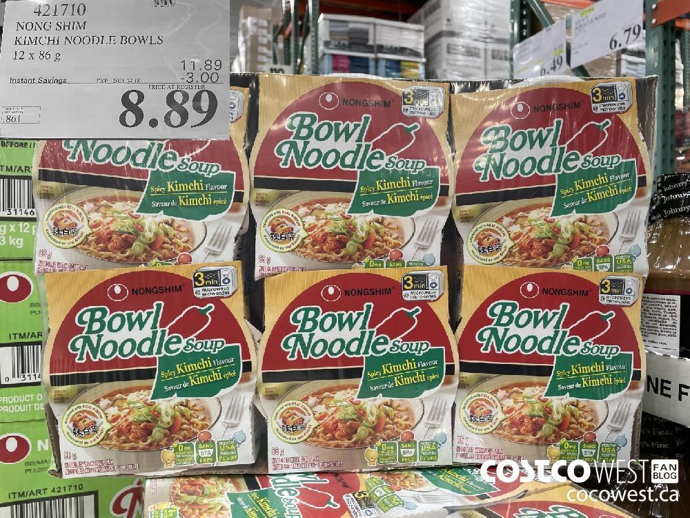 421710 NONG SHIM KIMCHI NOODLE BOWLS 12 x 86g EXPIRY DATE: 2021-04-18 $8.89