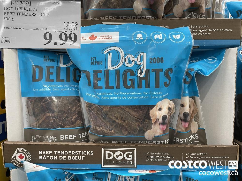 1417091 DOG DELIGHTS BEEF TENDERSTICKS 500 g EXPIRY DATE: 2021-04-11 $9.99